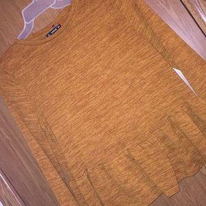 Women's Burnt Orange Fall Dressy Top